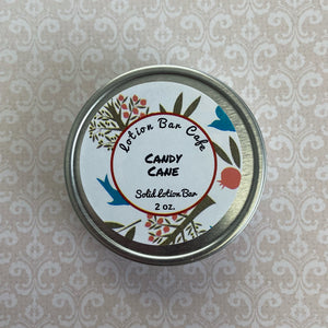 Candy Cane Solid Lotion Bar