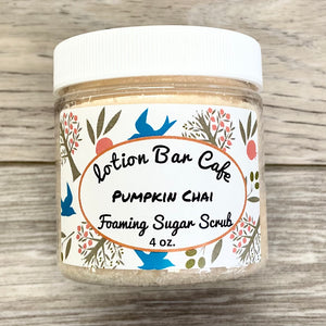 Pumpkin Chai Foaming Sugar Scrub