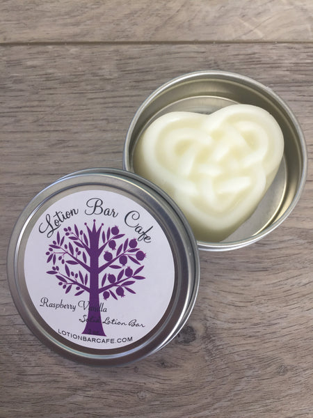 Raspberry Vanilla Solid Lotion Bar