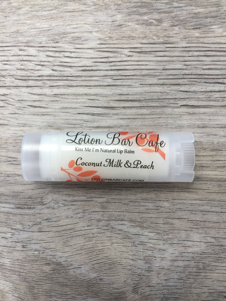 Coconut Milk & Peach- Kiss Me I'm Natural Lip Balm