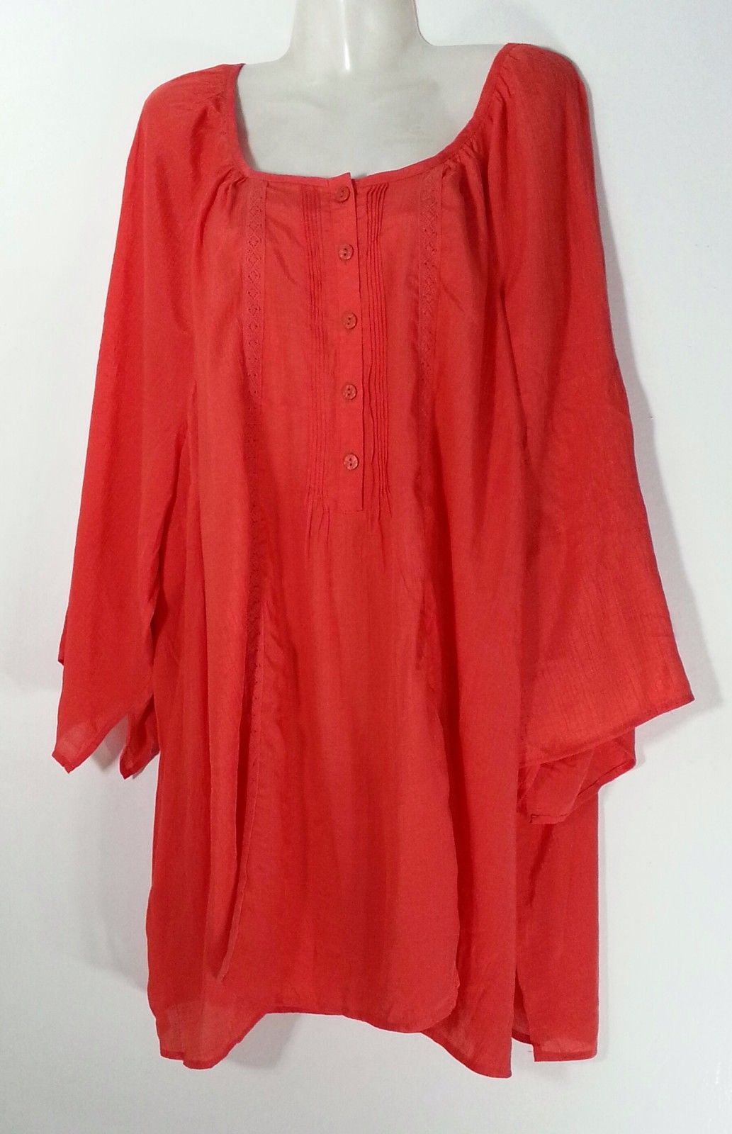 Maggie Barnes For Catherines Coral Top 4x 30 32 Plus Size Treats