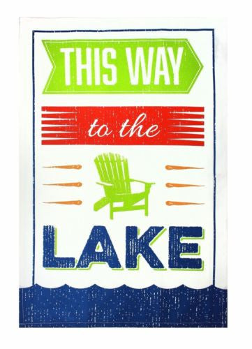 MUkitchen This Way To The Lake Oversized Designer Dish Towel