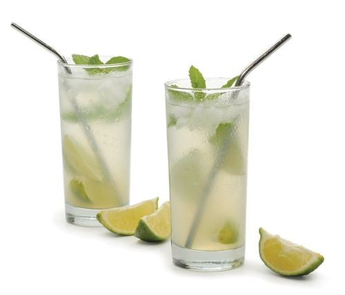 RSVP Endurance Drink Straws in 2 drinks with limes
