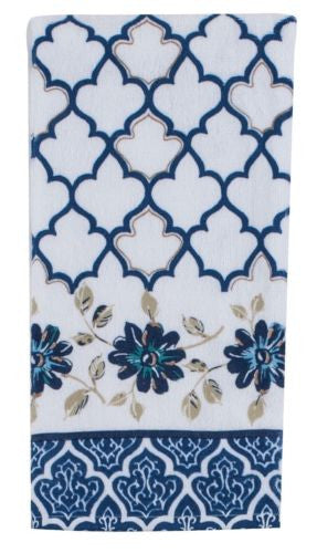 Kay Dee Designs Indigold Blue Kitchen Flour Sack Towel + 2 Terry Towels Set_terry towels