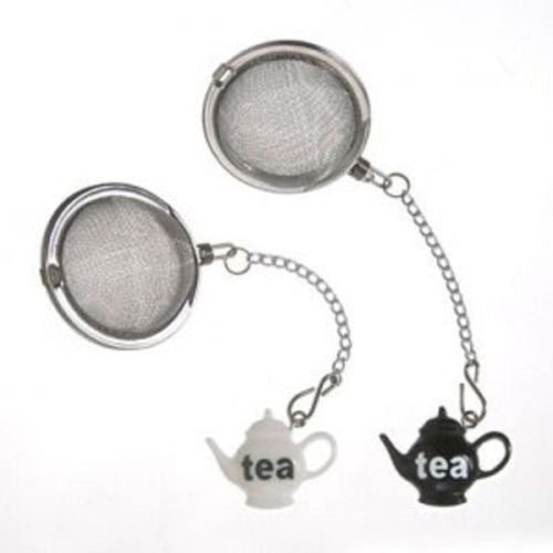 Prodyne Stainless Steel Tea Infusers - White and Black Teapot