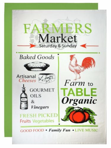 MUkitchen Retro Farmer's Market Flour Sack Towel 2 Set