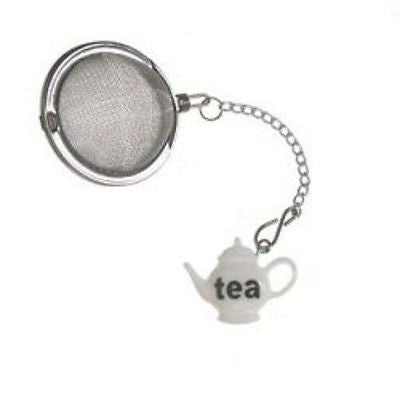 Prodyne Stainless Steel Tea Infusers - White Teapot