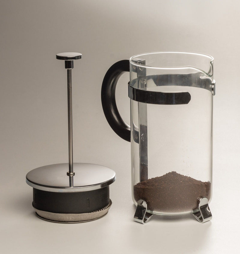 RSVP Endurance French Press - 8 Cup with grounds