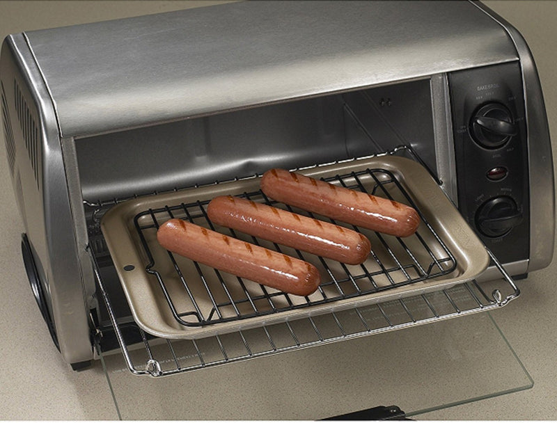 Nordic Ware Toaster Oven 2-Piece Broiler Set_hot dogs in toaster oven