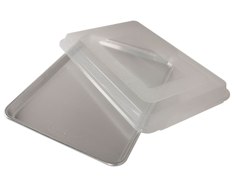 Nordic Ware Naturals Aluminum Commercial Baker's Half Sheet with Lid_lid angled 2