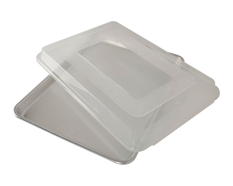 Nordic Ware Naturals Aluminum Commercial Baker's Half Sheet with Lid_lid angled