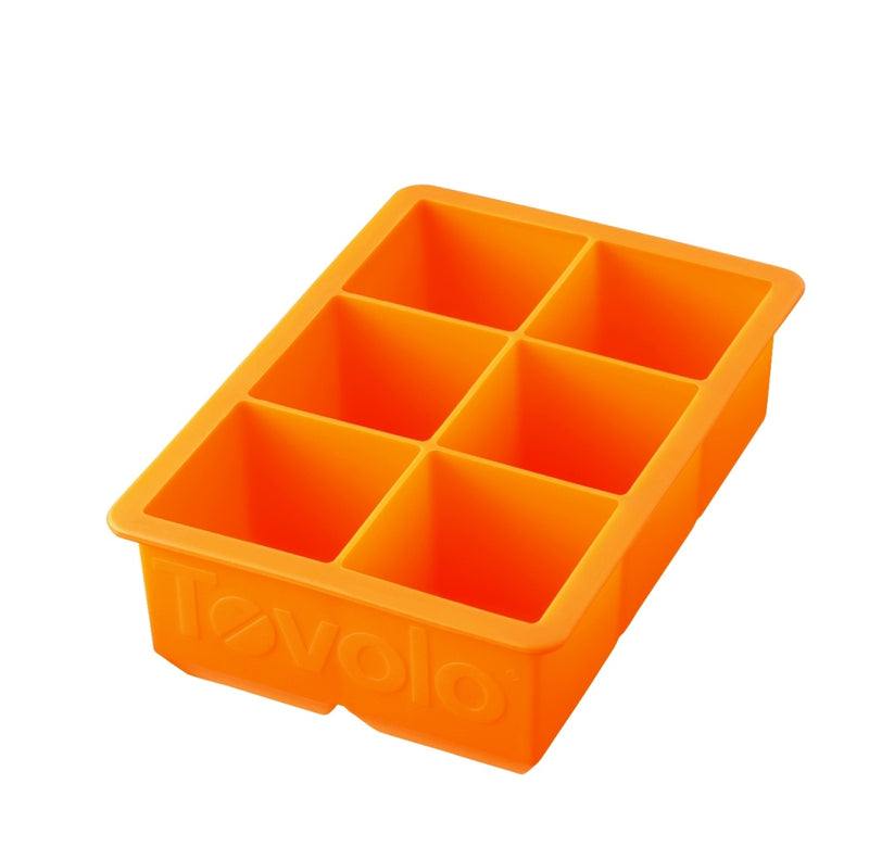 Tovolo King Cube Ice Tray_Orange Peel