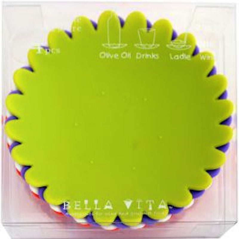 Bella Vita Flower Cup Coaster 4 Set_pkgd