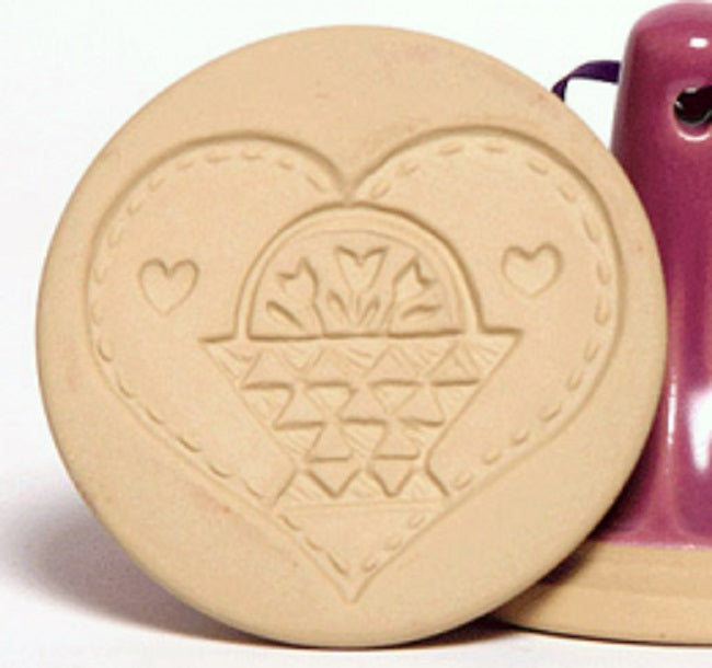 Brown Bag Designs Cookie Stamp - Quilted Basket Heart