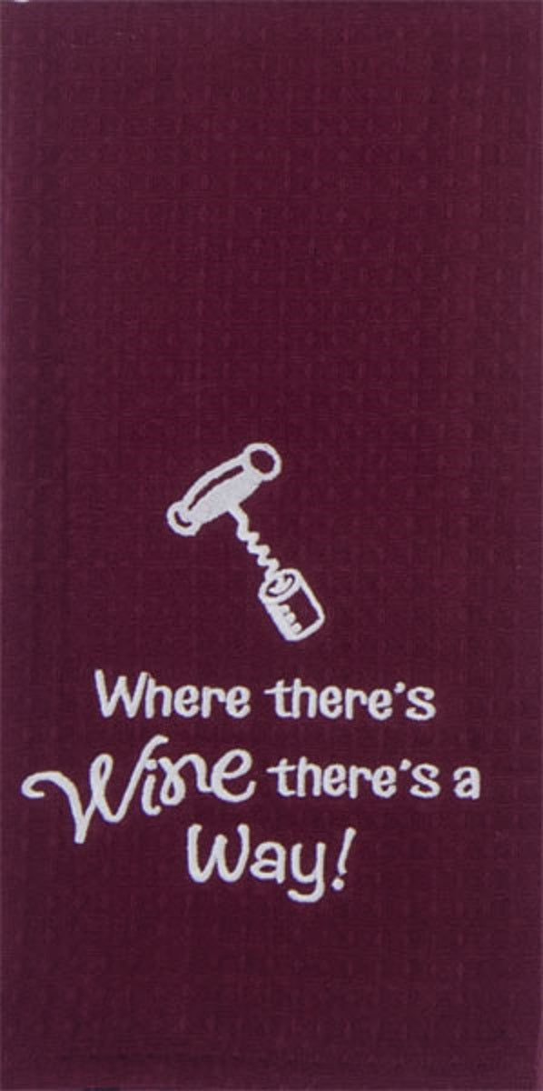 Kay Dee Designs Wine Waffle Towel_wine-way