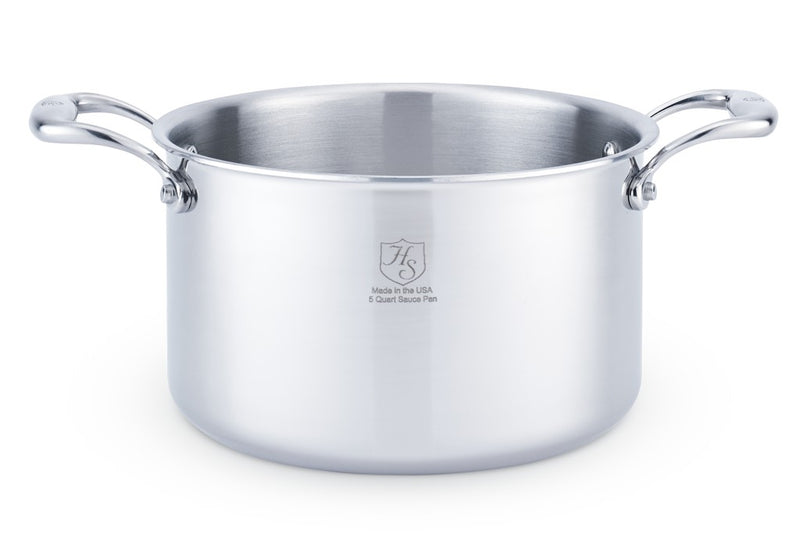Hammer Stahl 5 Quart Stock Pan with Cover_cover off
