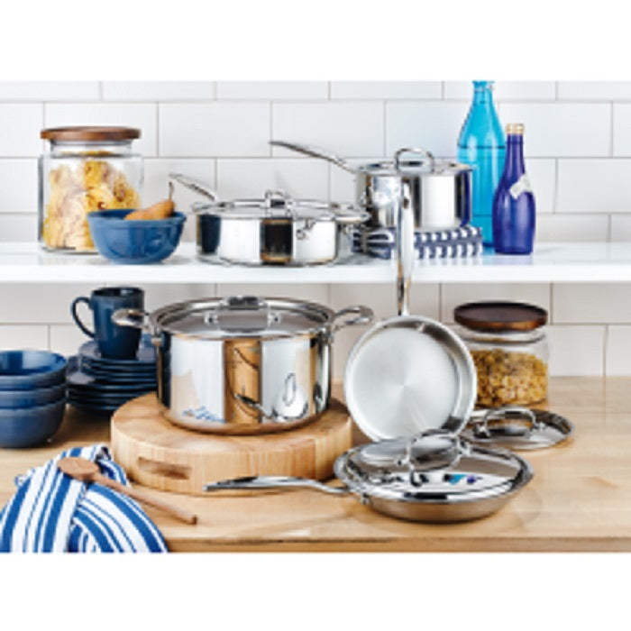 Hammer Stahl 10-piece Cookware Set on counter in kitchen