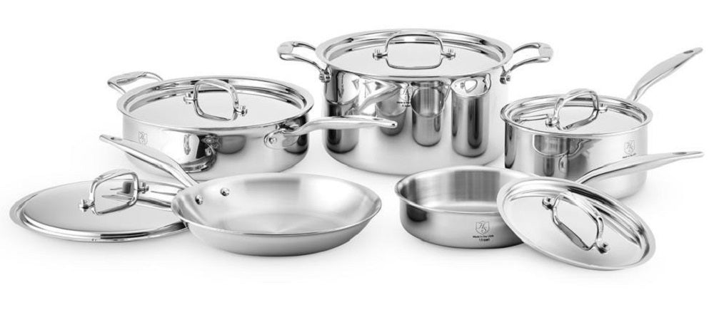 Hammer Stahl HSC-17002 10-piece Cookware Set