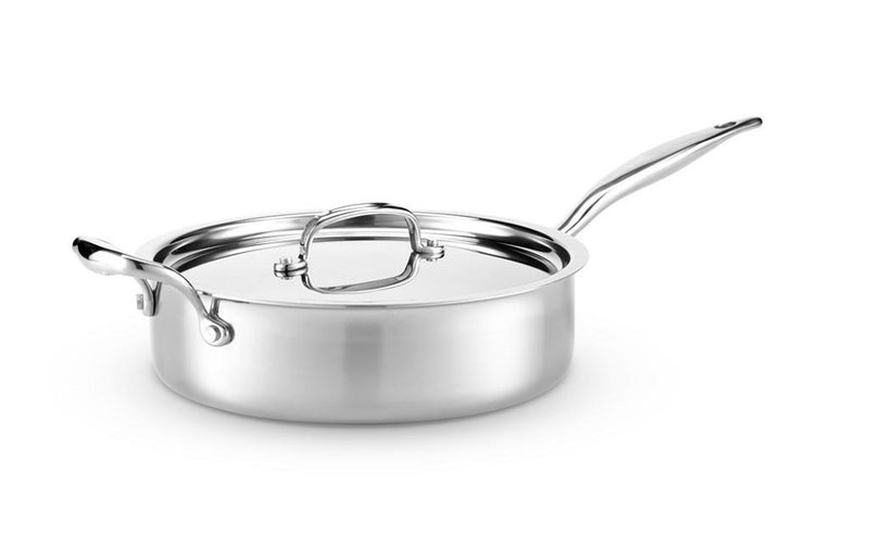 Hammer Stahl 4-Quart Deep Saute Pan with lid & side handle HSC-14311