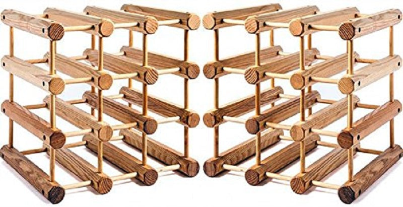JK Adams 2 Small-12 bottle Ash Modular Wine Rack