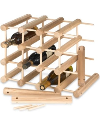 JK Adams Large-40 bottle Modular Ash Wine Storage Rack partially assembled