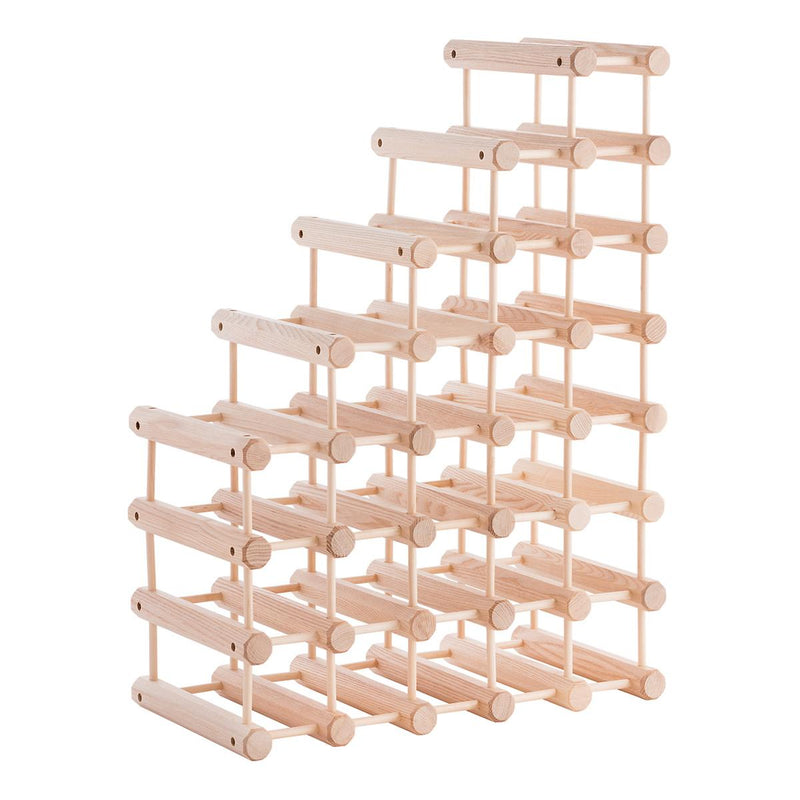 JK Adams Large-40 bottle Modular Ash Wine Storage Rack staggered layout