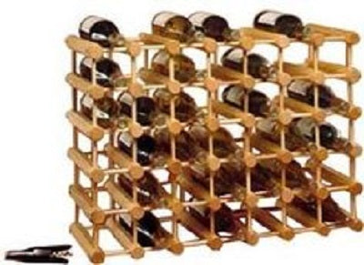 JK Adams Large-40 bottle Modular Ash Wine Storage Rack w-wine Bottles