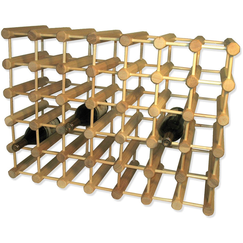 JK Adams Large-40 bottle Modular Ash Wine Storage Rack with 3 wine Bottles