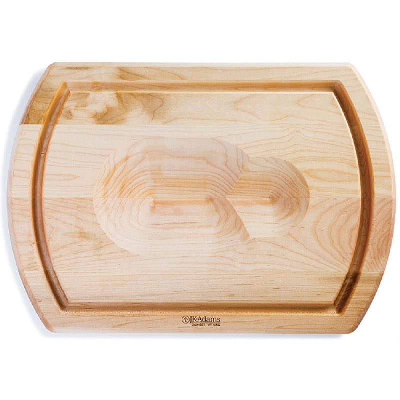 JK Adams Maple Reversible Carving Board w-Poultry Well