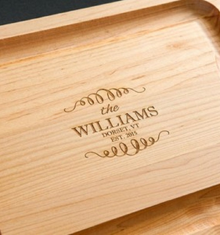 JK Adams Maple Reversible Carving Board w-engraving