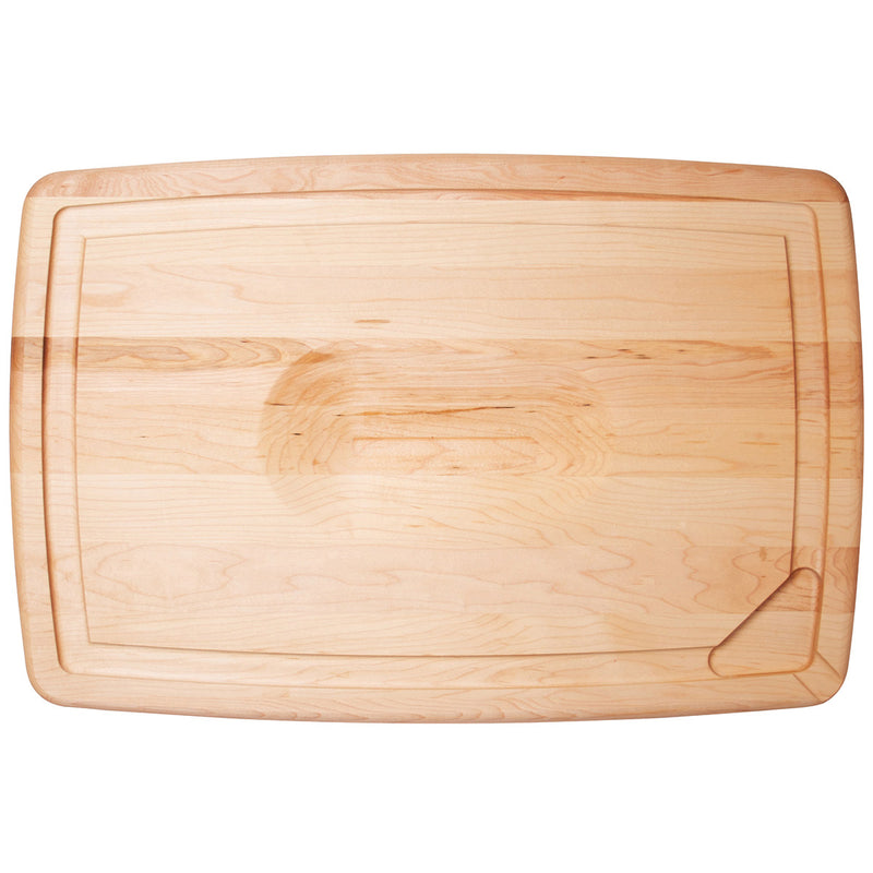 JK Adams Maple Reversible Pour Spout Carving Board w-indent