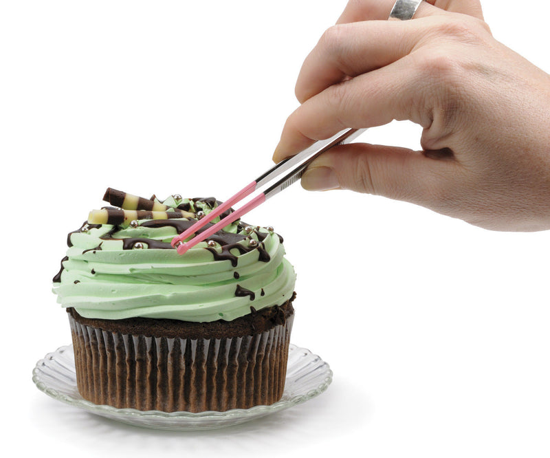 RSVP Endurance Decorating Tongs decorating cupcake