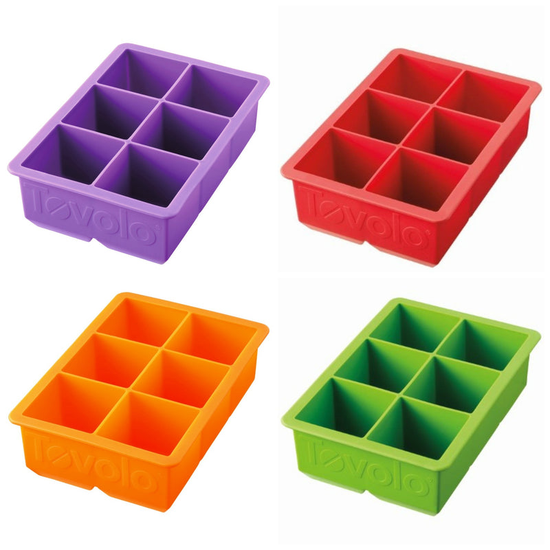 Tovolo King Cube Ice Tray_Collage of colors