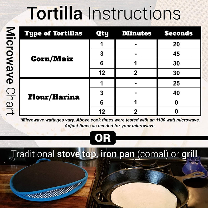 La Tortilla Oven 12-Inch Premium Tortilla Warmer - Choose Pattern