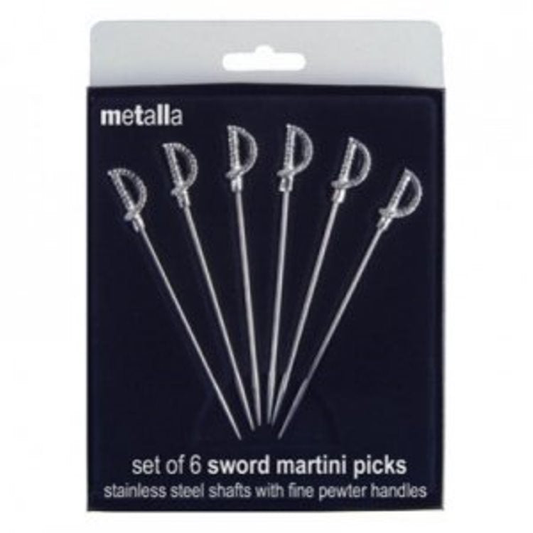 Prodyne Stainless Steel Sword Martini Picks - Set of 6_IN PKG
