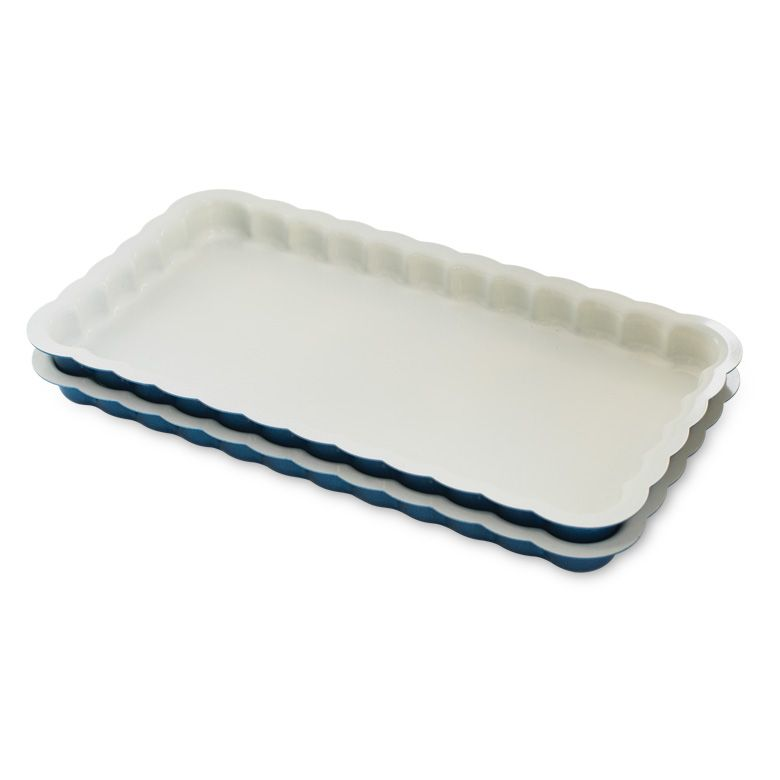 Nordic Ware Nonstick Aluminum Celebrations Loaf Pans-stacked-interior view
