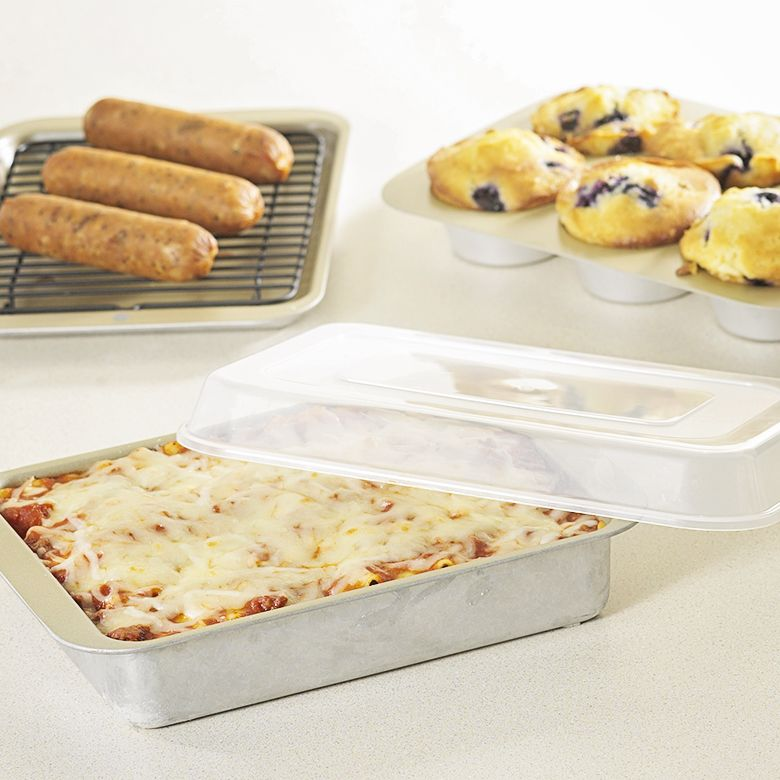 Nordic Ware 43215 Compact Ovenware 5-Piece Set - in use
