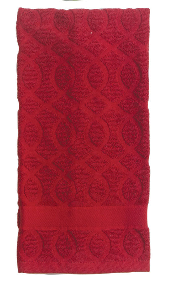 Kay Dee Designs Jacquard Towels_red