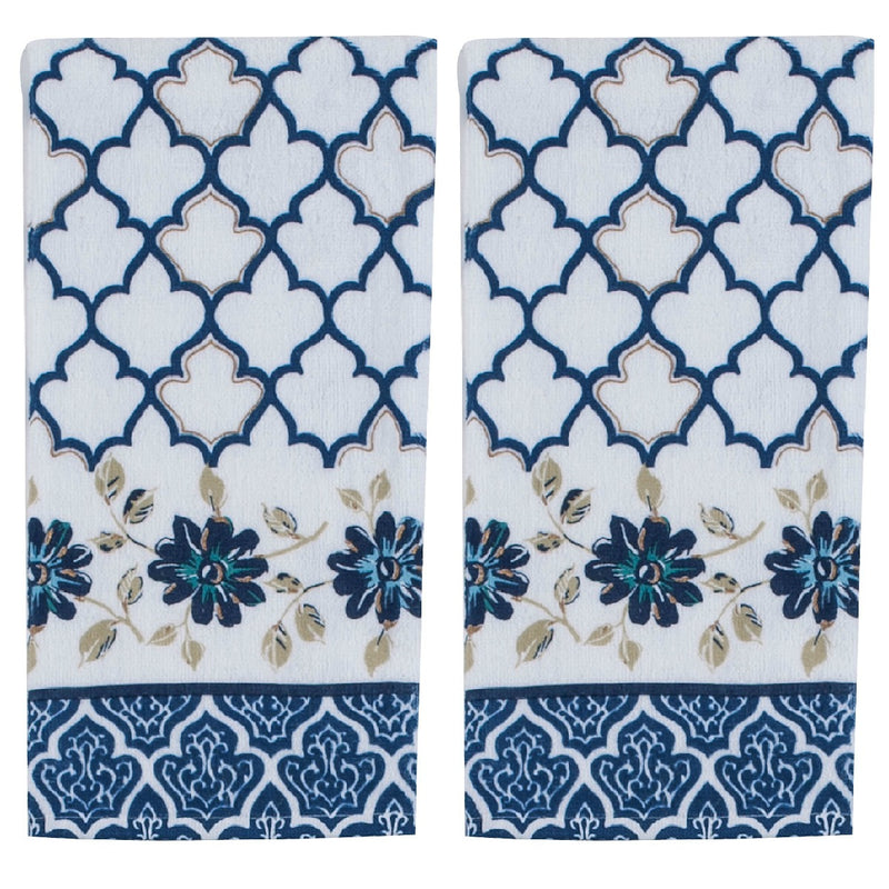 Kay Dee Designs Indigold Blue Terry Towel - Set of 2