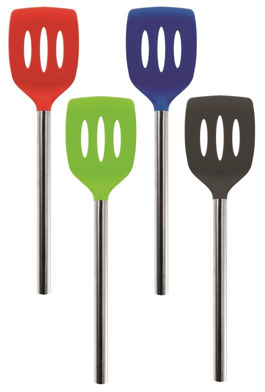 Tovolo Silicone Slotted Turner_Collage 2 Blue-Gray-Green-Red