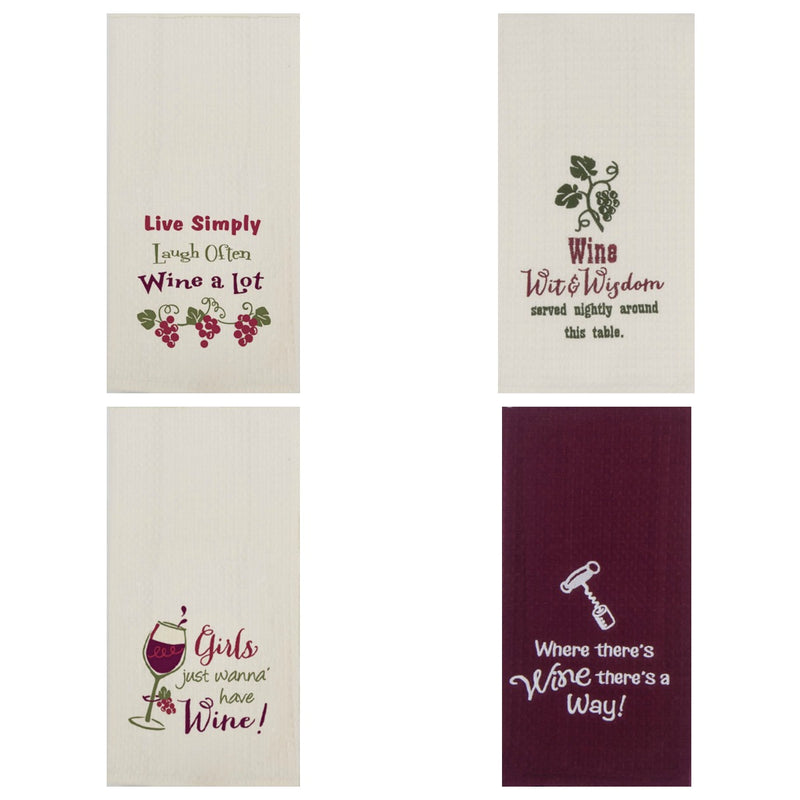 Kay Dee Designs Wine Waffle Towel_collage