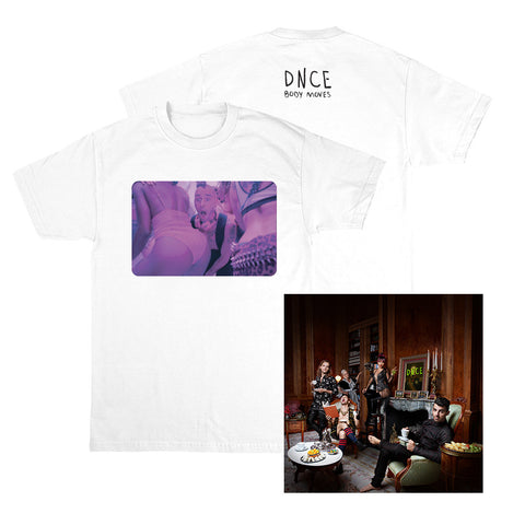 DNCE Album + Body Moves Cole White Tee