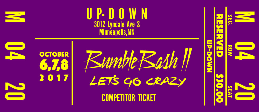 Competitor Registration for BumbleBash 2