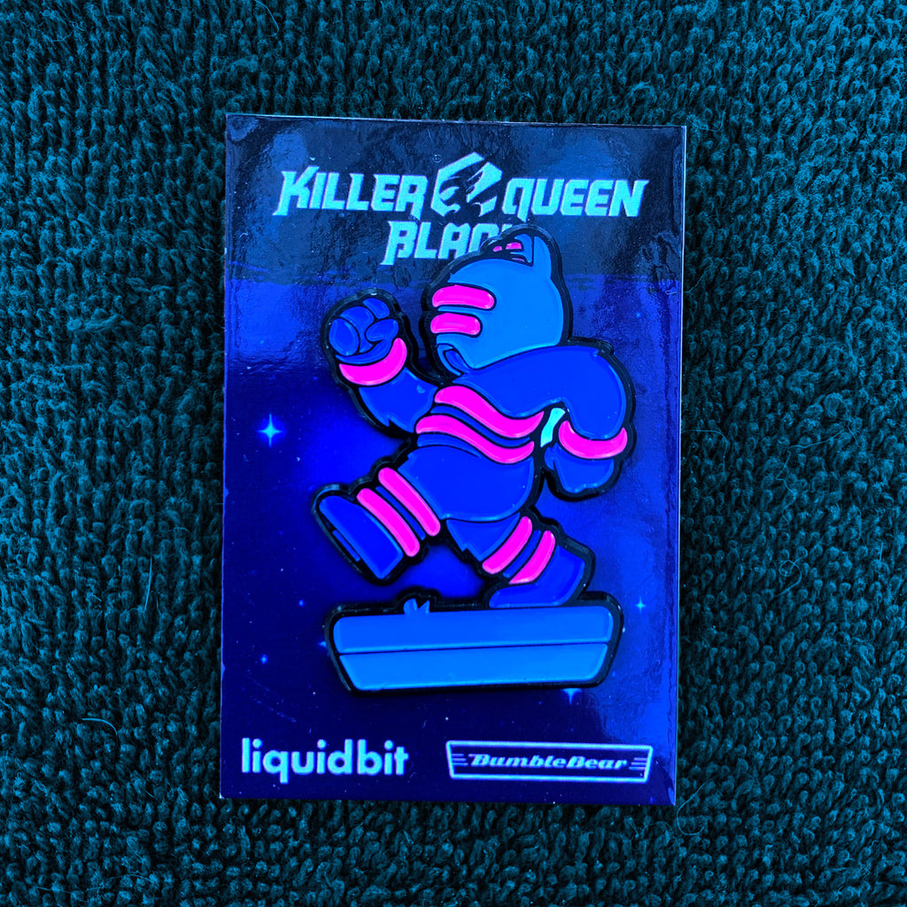 Stripes Drone - Killer Queen Black Enamel Pin