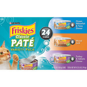 Friskies Classic Paté Variety Pack Cat Food
