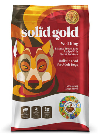 Solid Gold Wolf King Adult Dog Food - Bison & Brown Rice