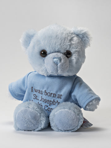 I was born at St Joe's Bear- Blue
