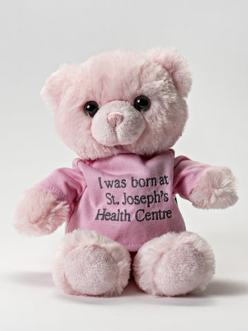 I was born at St Joe's Bear- Pink