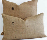 Burlap Pillow Covers - 2 sizes!