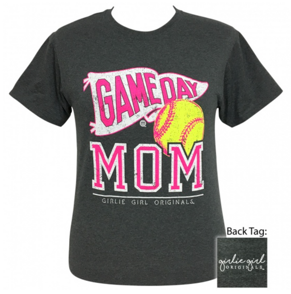 Girlie Girl Game Day Mom Softball - Size Small